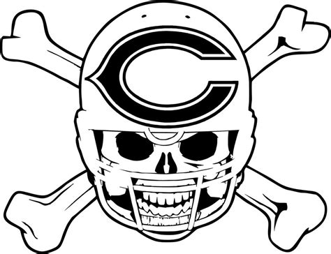 nfl bears coloring pages chicago bears symbol coloring pages coloring home