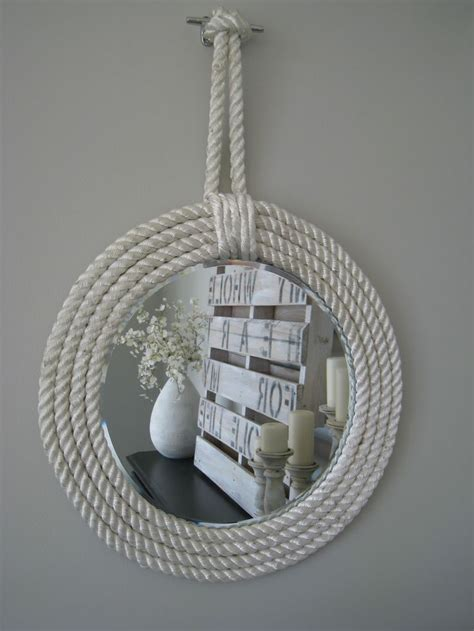 nautical mirrors bathroom nautical rope mirrors