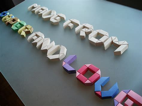 Origami 3d Letters - paper typeface on behance