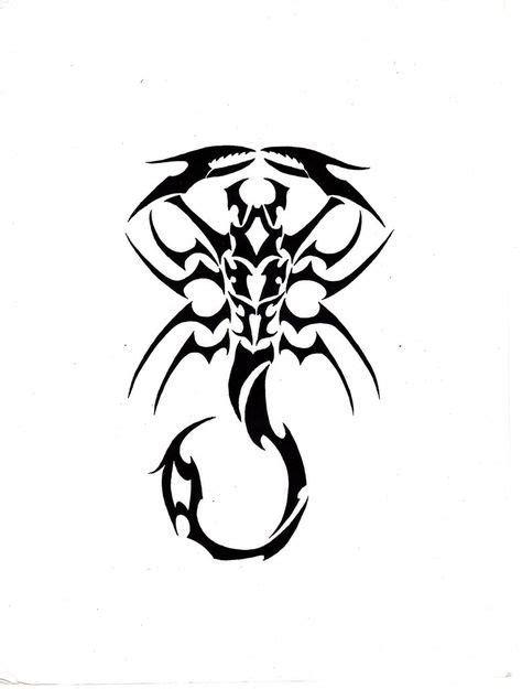 Black Tribal Scorpio flash tattoo by ghstkatt   Flash