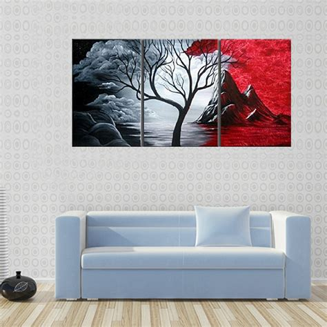 painting decor modern abstract painting wall decor landscape canvas wall art 3 piece wall decor landscape