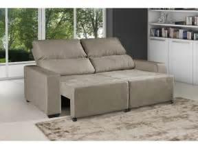 sofa chaise retratil sof 225 retr 225 til e reclin 225 vel 3 lugares suede montana