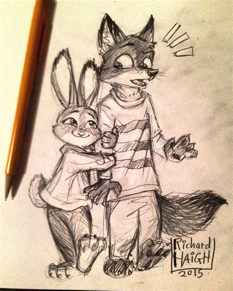 zootopia arm hug by pen mark on deviantart