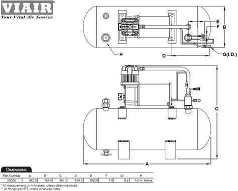viair 150 psi high flow air source kit automotive