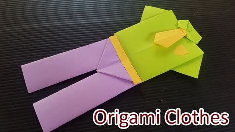 How To Make Clothes From Paper - how to make origami clothes paper dress origami