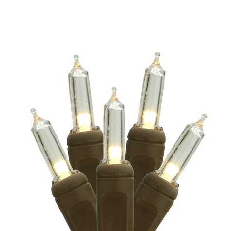 brown wire lights sale set of 50 warm white led mini lights 4 quot spacing