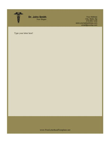 doctor business letterhead