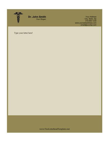 doctor business letterhead