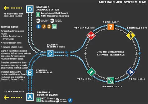 jfk airtrain map image gallery jfk airtrain