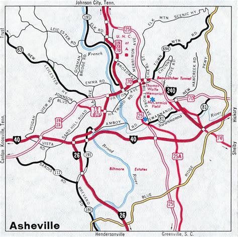 map of asheville nc interstate guide interstate 240 carolina