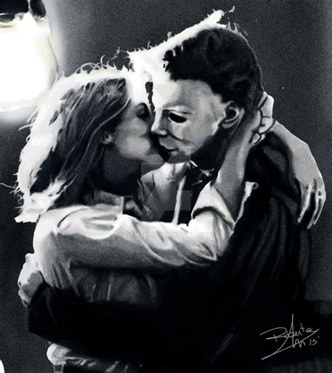 mike myers jamie lee curtis mike myers halloween kiss by gen86 on deviantart