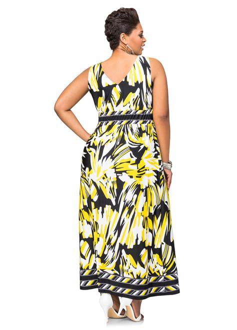 Bordira Maxi Dress border print maxi dress plus size dresses stewart