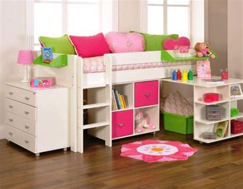 Girly Midi uno 3a white mid sleeper frame pullout desk 1 x cube