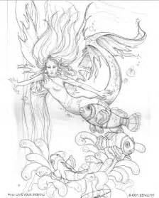mermaid coloring pages for adults enchanted designs mermaid free