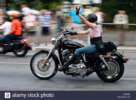 Buy Motorrad Germany by Biker Rides A Harley Davidson Motorbike In Hamburg