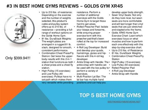 top 5 best home gyms reviews 2014 slideshare
