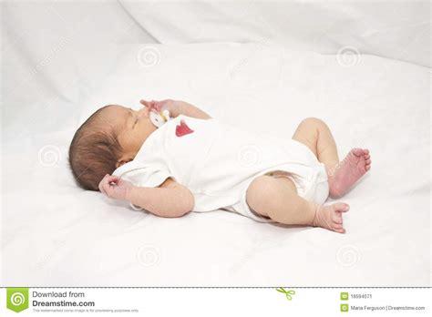 laying on back infant laying on back stock image image 16594071