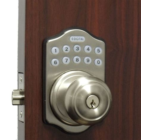 How To Open A Locked Door Knob by Lockey E Digital Keyless Electronic Knob Door Lock Satin Nickel With Remote