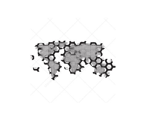 tech world map vector pack abstract world maps
