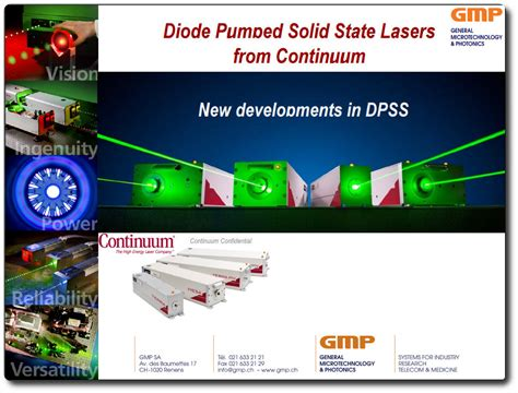 diode pumped solid state laser cw solid state gmp sa photonics and micropositioning solutions