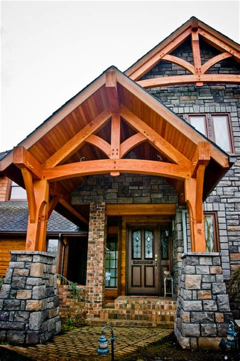 Fall Entryway Ideas Timber Framed Entryways Showcase Craftsman Entry