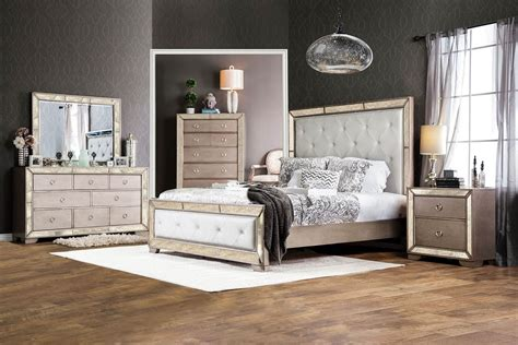 vintage bedroom furniture sets loraine antique silver panel bed cm7195 usa furniture online