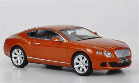 bentley orange bentley continental miniature gt orange 2011 minichs 1