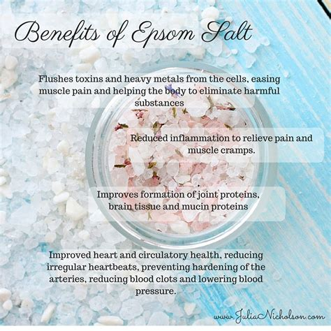 How To Take A Detox Epsom Salt Bath by Benefits Of Epsom Salt Baths Nicholson