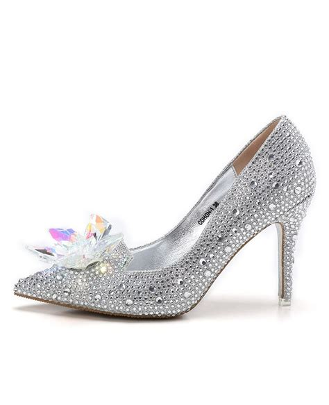 Bridal Shoes With Bow by Glitter Low Heel Bridal Shoes With Floral Bow