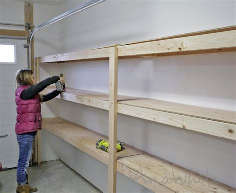 ana white easy  fast diy garage  basement shelving