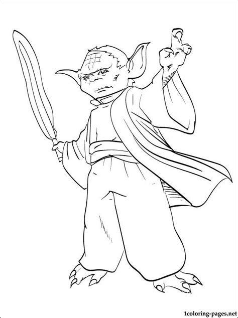 printable coloring pages of yoda star wars yoda printable page coloring pages