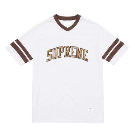 T Shirt Supreme 0 2 White Broy supreme white glitter arch football shirt size 12 l