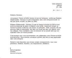 Modèle De Lettre De Recommandation Entreprise Exemple De Lettre De Recommandation D Un Patron Exemples De Cv
