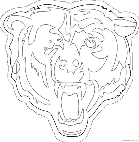 bears football coloring page steelers page kids coloring europetravelguidescom print