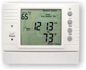 programmable digital thermostat for hydronic radiant floor