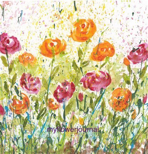 acrylic painting ideas inspiration alternatux com using flower photos for splattered paint art inspiration
