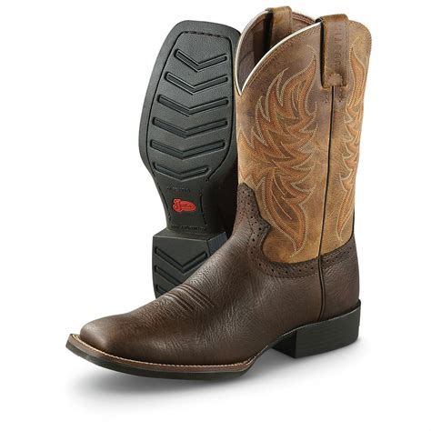 justin square toe cowboy boots 620346 cowboy western