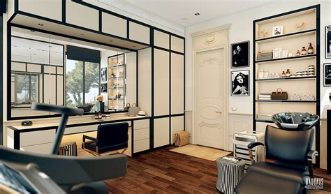 Designing A Dressing Room - a modern art deco home visualized in two styles