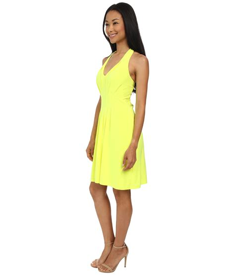Chaterine Dress lyst catherine malandrino ty dress in yellow