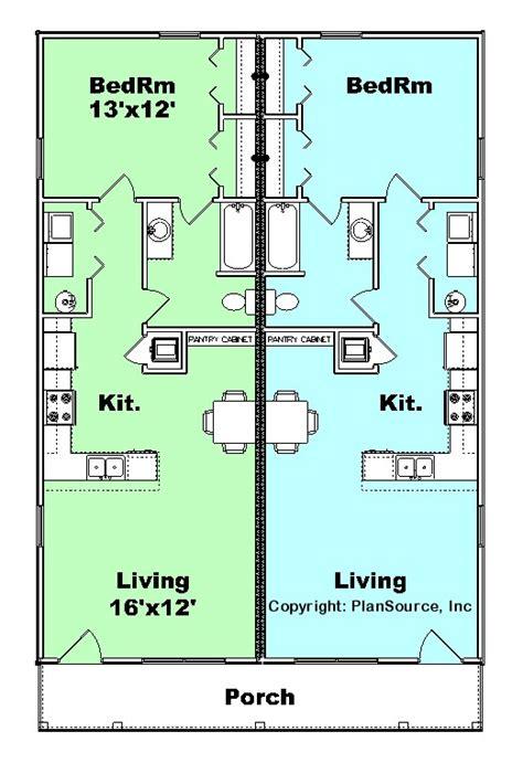 duplex plans for narrow lots duplex plan j0929 11d plansource inc