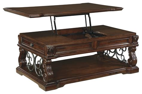lift top cocktail table traditional lift top cocktail table with 2 drawers 1