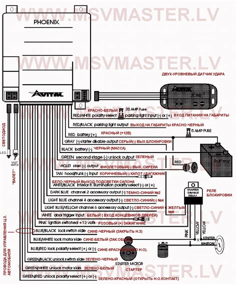 avital remotes wiring diagram power acoustik wiring