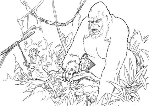 free coloring pages of king kong king kong 2 supervillains printable coloring pages