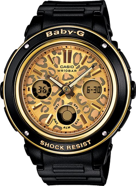 G Shock Baby G Time Black Angka Gold bga151lp 1a baby g black womens watches casio baby g