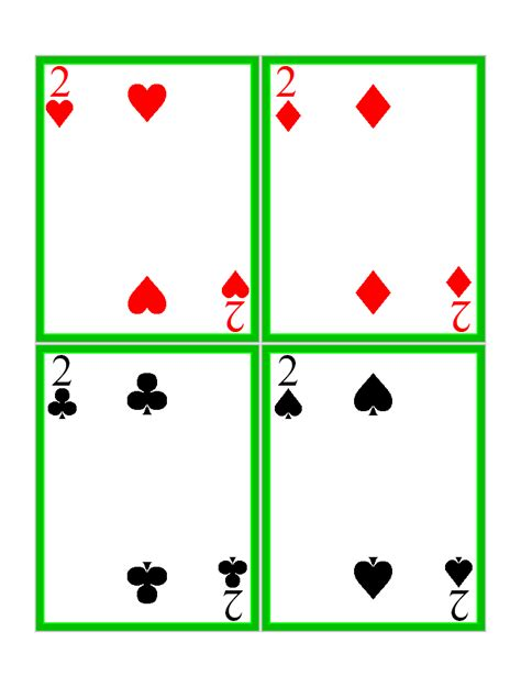 printable blank deck of cards 8 best images of free printable deck of cards free