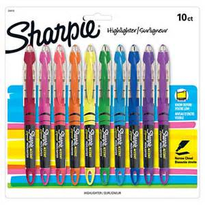 sharpie colors sharpie liquid accent pen style highlighters assorted