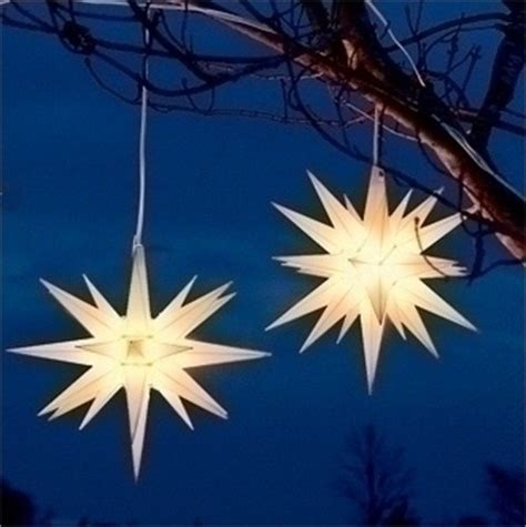 white moravian star hanging christmas lights modern