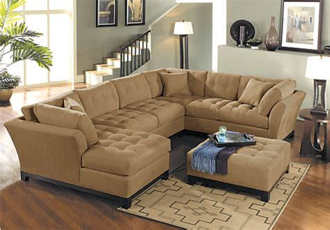 sectional living room set cindy crawford metropolis peat 4pc sectional living room