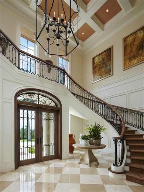 Entrance Stairs Design Neoclassical Oceanfront Mediterranean Entry Miami By Affiniti Architects