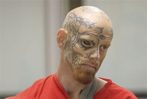 tattoo eyeball prison the man who was sentenced for shooting a cop has a tattoo